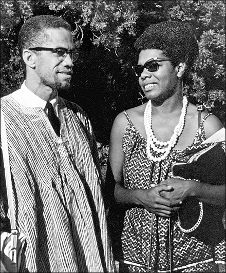 Maya and Malcolm X in Africa